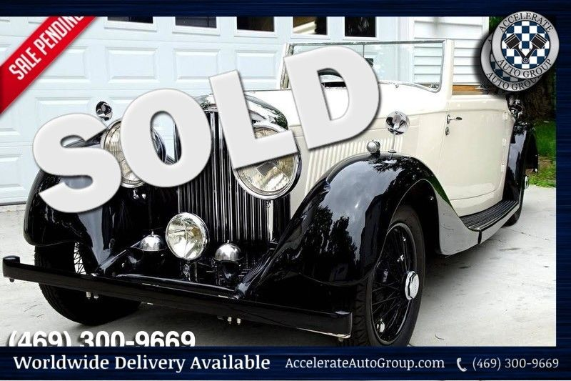 1937 Bentley 4.25 Liter Drop Head Coupe BEAUTIFUL, AUTHENTIC AND ULTRA RARE in Rowlett Texas