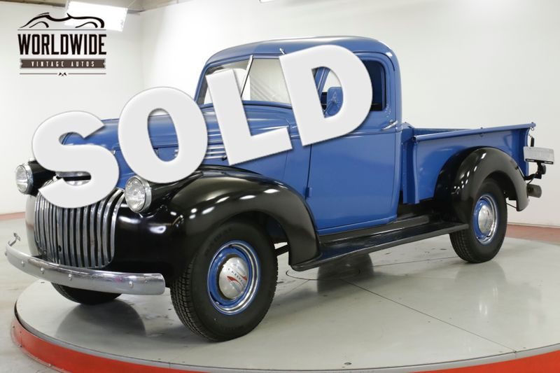 1946 Chevrolet TRUCK CLASSIC ART DECO STYLING CHROME FRONT/REAR  | Denver, CO | Worldwide Vintage Autos