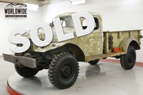 1946 Dodge POWER WAGON RARE. PATINA. FIRST YEAR OF CIVILIAN  | Denver, CO | Worldwide Vintage Autos in Denver, CO