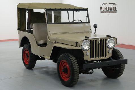 1946 Jeep WILLYS CJ2A. RESTORED ORIGINAL 4x4 CONVERTIBLE | Denver, CO | Worldwide Vintage Autos in Denver, CO