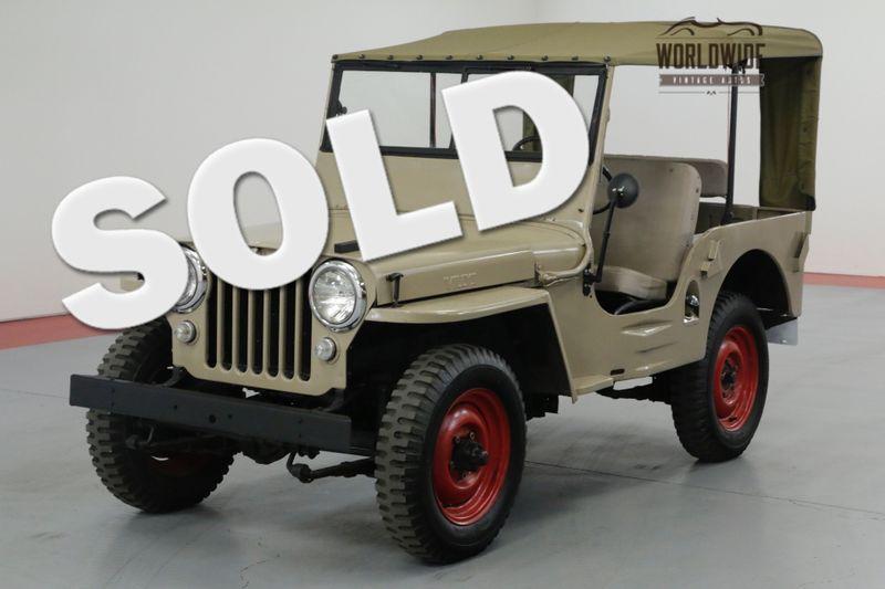 1946 Jeep WILLYS CJ2A. RESTORED ORIGINAL 4x4 CONVERTIBLE | Denver, CO | Worldwide Vintage Autos