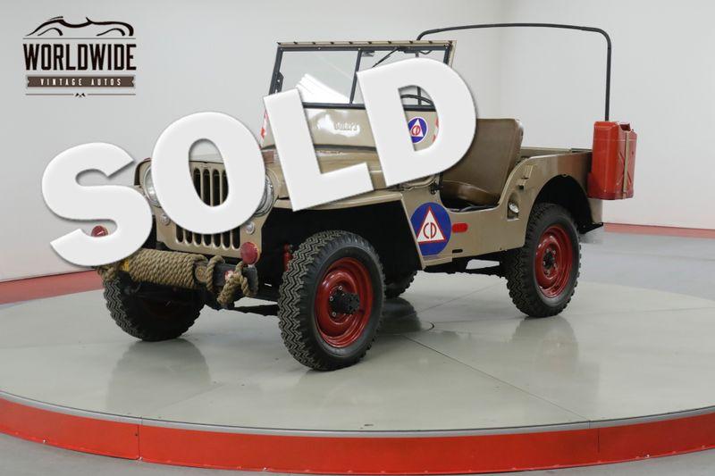 1946 Willys CJ2A ORIGINAL CIVIL DEFENSE JEEP | Denver, CO | Worldwide Vintage Autos