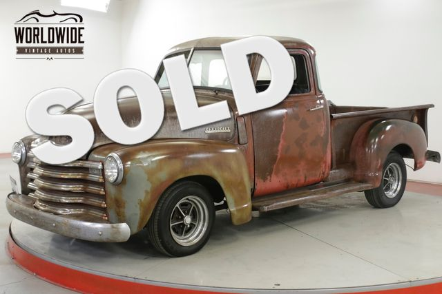 1948 Chevrolet 3100 RARE 5 WINDOW AUTO PATINA DISC RAT ROD  | Denver, CO | Worldwide Vintage Autos in Denver CO