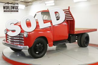 1948 Chevrolet 3100 5 WINDOW 3/4 TON FLATBED INLINE 6 CYL RARE | Denver, CO | Worldwide Vintage Autos in Denver CO
