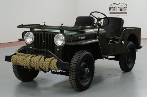 1948 Jeep WILLYS CJ3A. RESTORED. MILITARY. RARE 4x4  | Denver, CO | Worldwide Vintage Autos in Denver, CO
