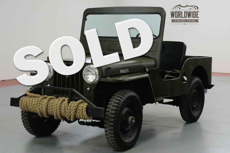 1948 Jeep WILLYS CJ3A. RESTORED. MILITARY. RARE 4x4  | Denver, CO | Worldwide Vintage Autos