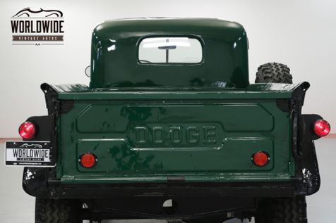 1949 Dodge POWER WAGON STOCK 4X4. INLINE 6 CYLINDER. 10,000 LB WINCH | Denver, CO | Worldwide Vintage Autos in Denver, CO