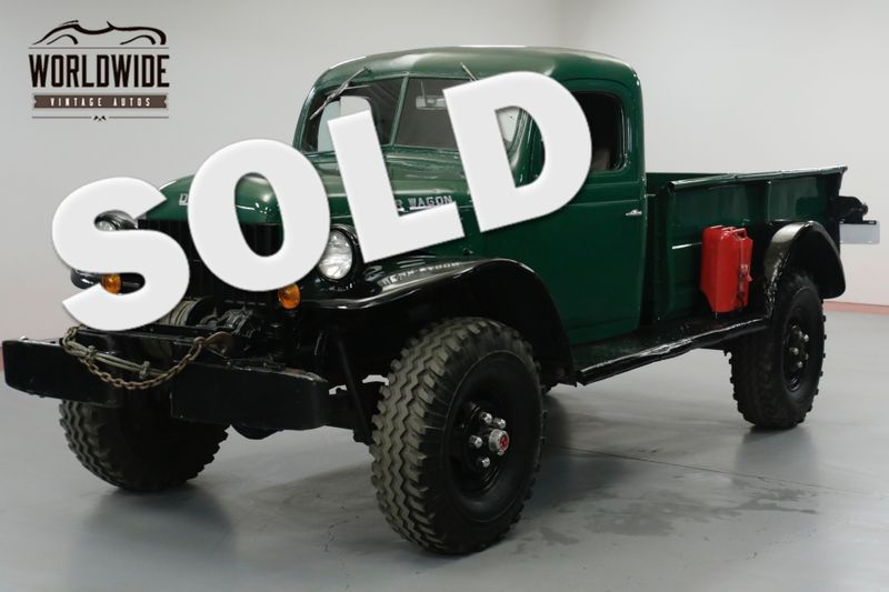 1949 Dodge POWER WAGON STOCK 4X4. INLINE 6 CYLINDER. 10,000 LB WINCH | Denver, CO | Worldwide Vintage Autos