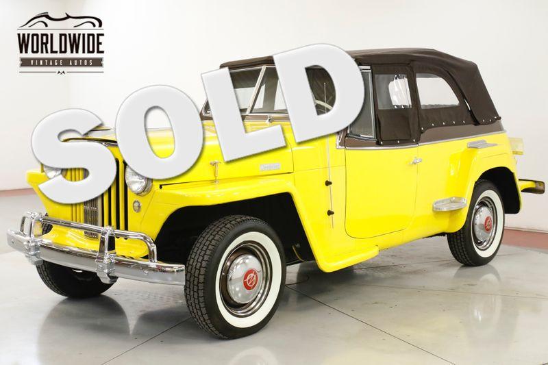 1949 Jeep JEEPSTER FRAME OFF RESTORATION LOTS OF CHROME  | Denver, CO | Worldwide Vintage Autos