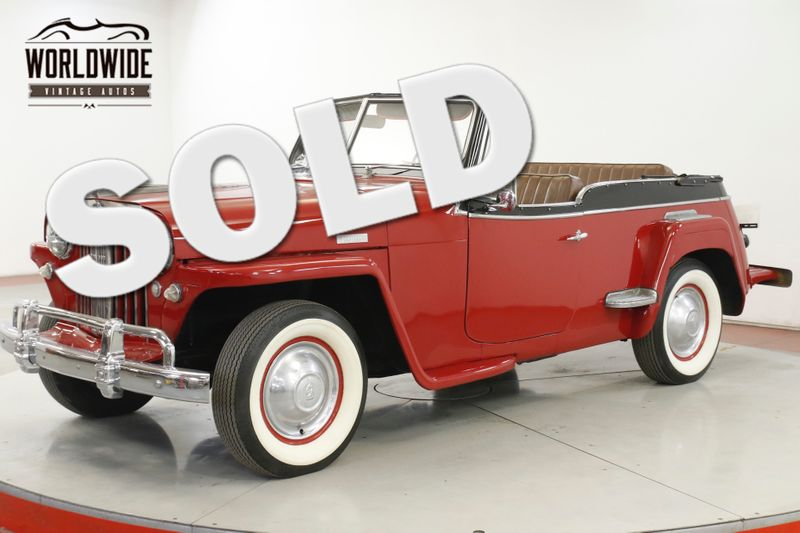 1949 Jeep JEEPSTER  WILLYS OVERLAND RARE 61K MILES HURRICANE 6  | Denver, CO | Worldwide Vintage Autos