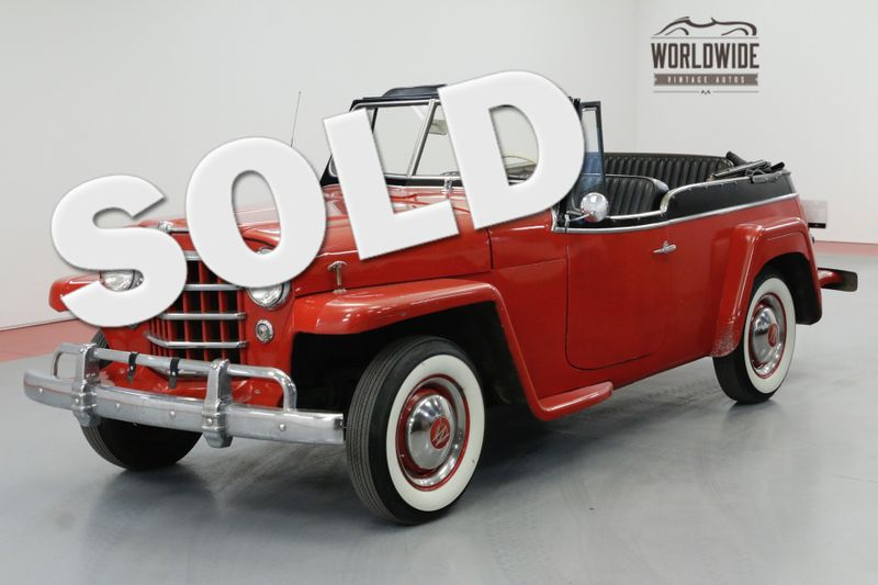 1950 Willys JEEPSTER CONVERTIBLE WHITE WALLS SOFT TOP MUST SEE | Denver, CO | Worldwide Vintage Autos