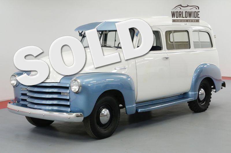 1951 Chevrolet SUBURBAN SPLIT WINDSHIELD 4-SPEED MANUAL 216 INLINE 6  | Denver, CO | Worldwide Vintage Autos