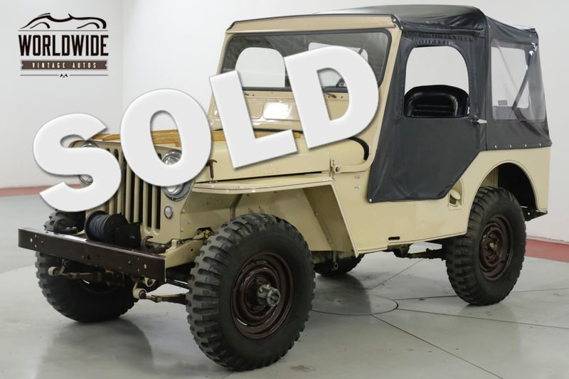 1951 Jeep WILLYS  NUMBERS MATCHING ORIGINAL MOTOR  | Denver, CO | Worldwide Vintage Autos
