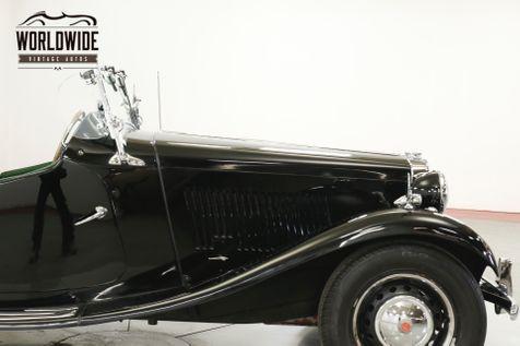 1952 Mg TD CONVERTIBLE 1250CC ENGINE  | Denver, CO | Worldwide Vintage Autos in Denver, CO