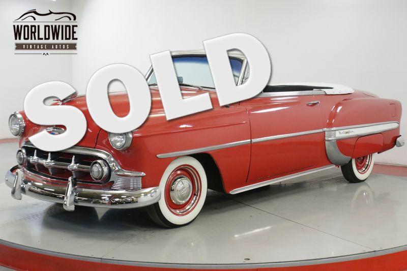1953 Chevrolet BELAIR CONVERTIBLE CUSTOM BELAIR. V8! AUTO! CHROME | Denver, CO | Worldwide Vintage Autos