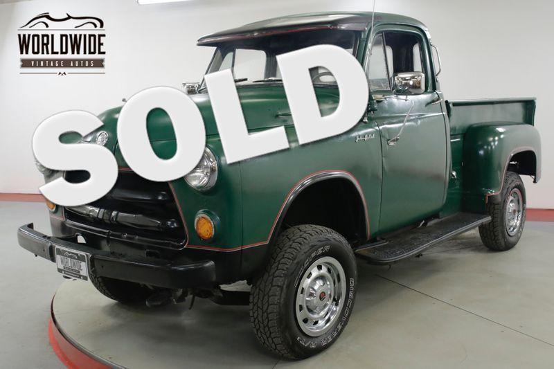 1954 Dodge TRUCK 5 WINDOW 4x4 350 VORTEC V8 PS PB 600 MILES  | Denver, CO | Worldwide Vintage Autos