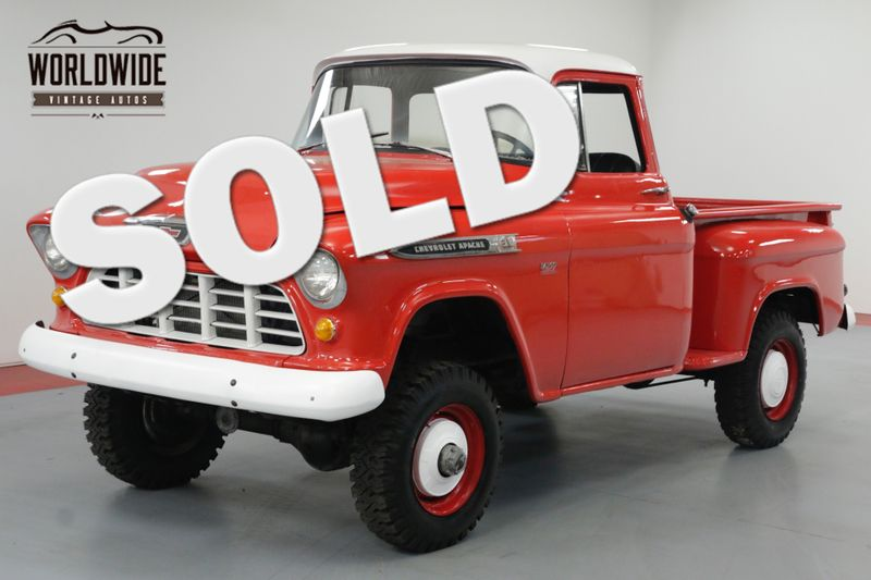 1955 Chevrolet 3600 BIG WINDOW NAPCO 4X4 4-SPEED 350 CIDV8 | Denver, CO | Worldwide Vintage Autos