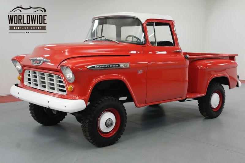 1955 Chevrolet 3600 BIG WINDOW NAPCO 4X4 4-SPEED 350 CIDV8   Denver, CO   Worldwide Vintage Autos
