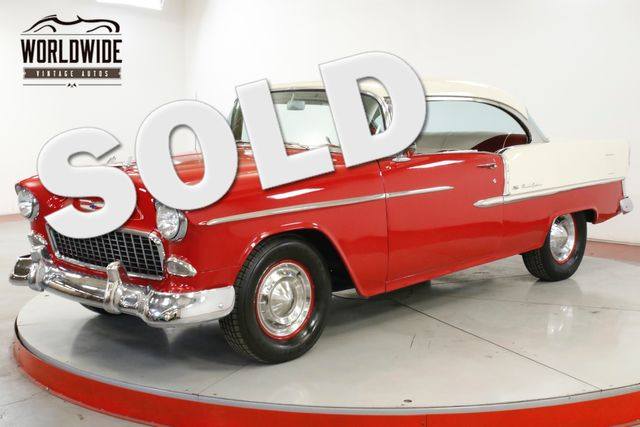 1955 Chevrolet BEL AIR  BEAUTIFUL TWO TONE PAINT V8 NO POST GARAGED  | Denver, CO | Worldwide Vintage Autos in Denver CO