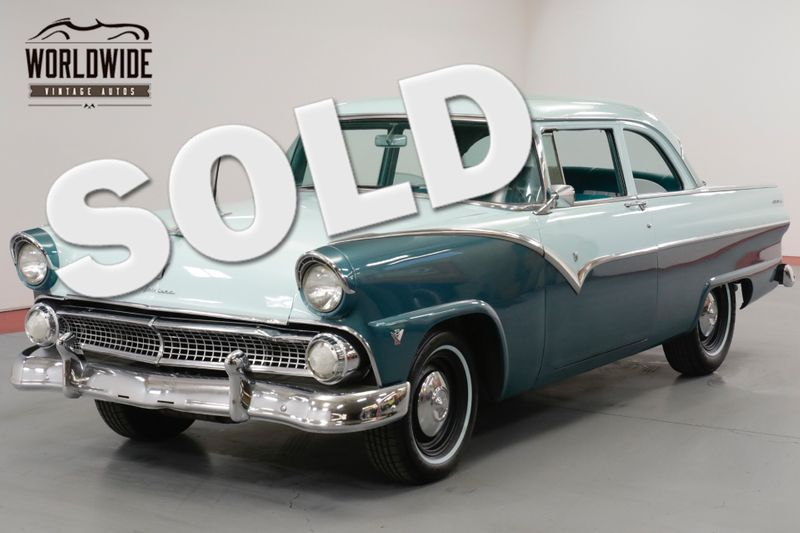 1955 Ford CUSTOMLINE V8. GREAT DRIVER. RARE COLOR COMBO. MUST SEE    Denver, CO   Worldwide Vintage Autos