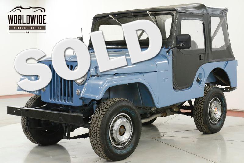 1955 Jeep CJ5 RESTORED 4X4 CONVERTIBLE TOP BUICK V6 4SPD  | Denver, CO | Worldwide Vintage Autos