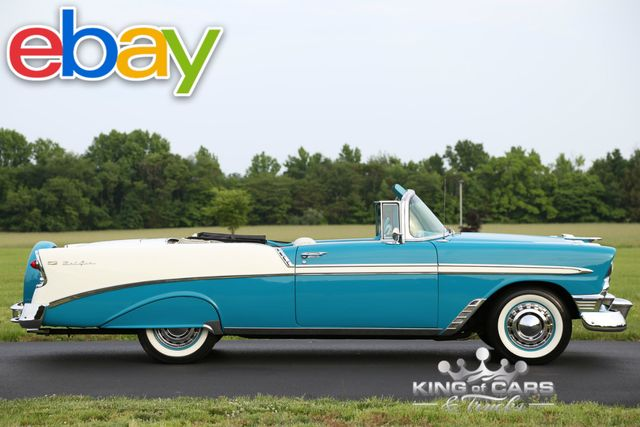 1956 Chevrolet Bel Air CONVERTIBLE 265 V8 RESTORED BAT WING AIR CLEANER /CONTINETAL KIT