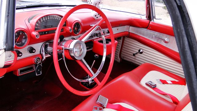 1956 Ford THUNDERBIRD 312 V8, AOD 4 SPEED AUTOMATIC ,A/C 2 TOP ROADSTER Phoenix, Arizona 3