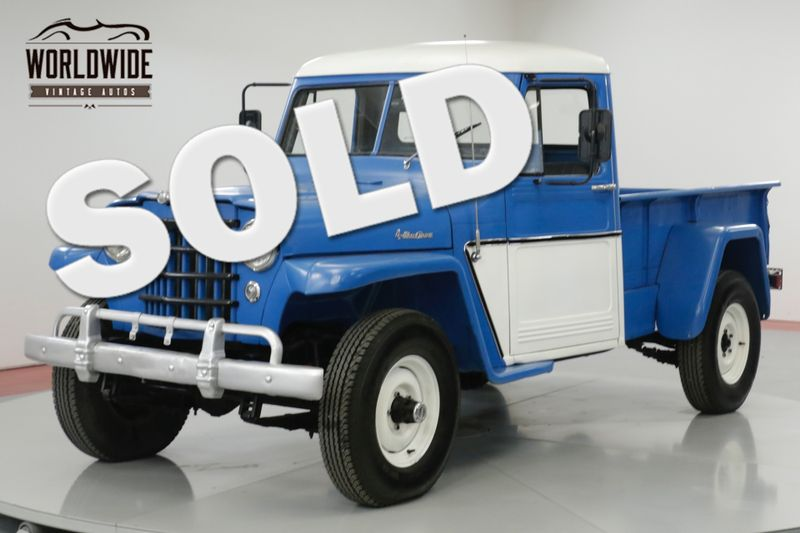 1956 Jeep WILLYS  350V8! RARE! 3-SPEED WITH HI AND LO 4X4! | Denver, CO | Worldwide Vintage Autos