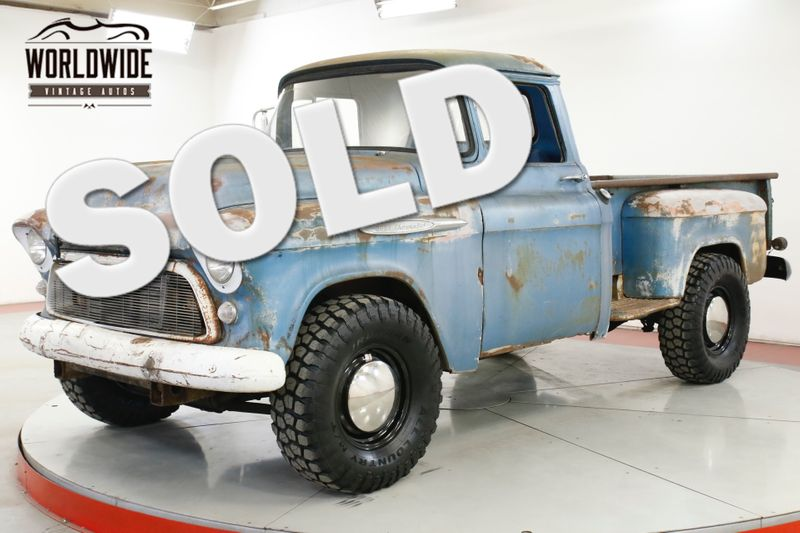 1957 Chevrolet PICK UP DURAMAX TURBO DIESEL 4x4 PATINA AUTO PS PB    Denver, CO   Worldwide Vintage Autos