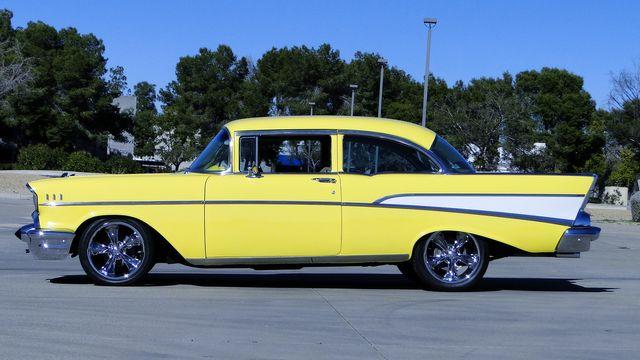 1957 Chevrolet 150 POST SEDAN HOLLYWOOD KNIGHTS STYLE Phoenix, Arizona 18