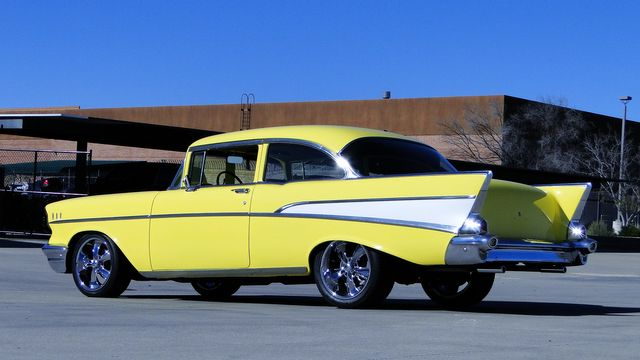 1957 Chevrolet 150 POST SEDAN HOLLYWOOD KNIGHTS STYLE Phoenix, Arizona 22