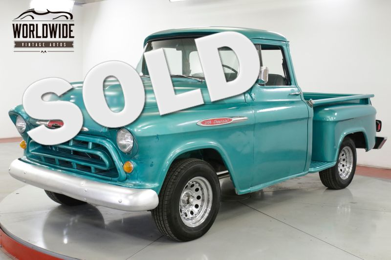 1957 Chevrolet 3100 BIG WINDOW SHORT BED. V8! AUTO PB | Denver, CO | Worldwide Vintage Autos