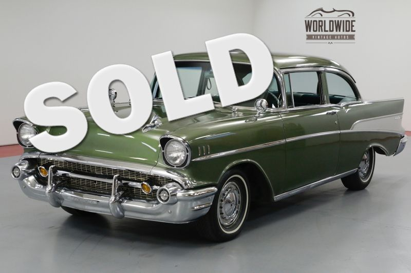 1957 Chevrolet BEL AIR  TWO OWNER. RESTORED. 350V8. TH350 AUTOMATIC. | Denver, CO | Worldwide Vintage Autos