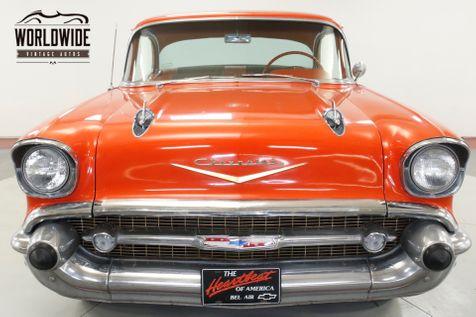 1957 Chevrolet BELAIR 327 V8 NO POST WHITE WALLS. COLLECTOR GRADE   Denver, CO   Worldwide Vintage Autos in Denver, CO