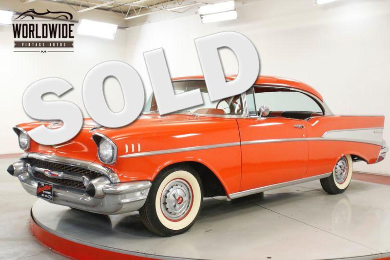 1957 Chevrolet BELAIR 327 V8 NO POST WHITE WALLS. COLLECTOR GRADE   Denver, CO   Worldwide Vintage Autos
