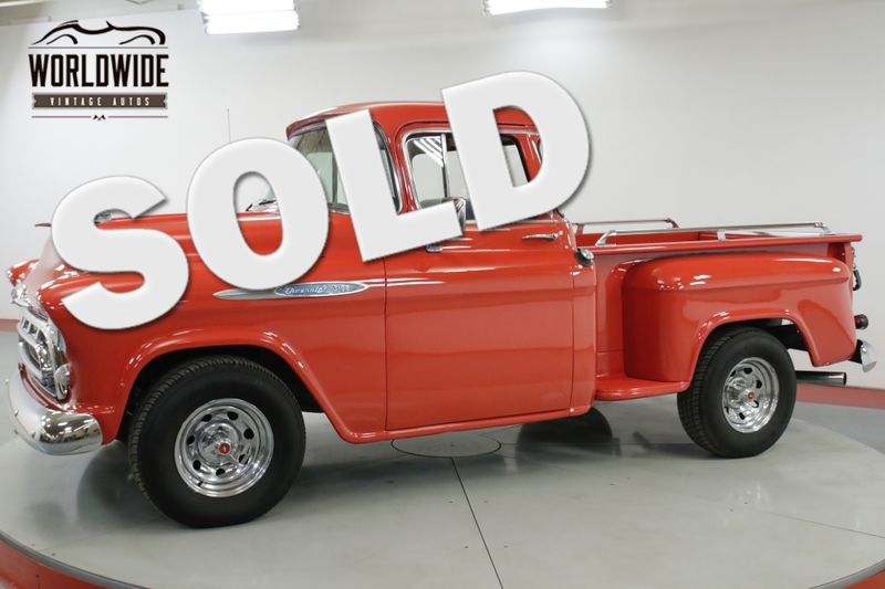 1957 Chevrolet TRUCK 3100 VINTAGE AC PS PB DISC BIG WINDOW | Denver, CO | Worldwide Vintage Autos