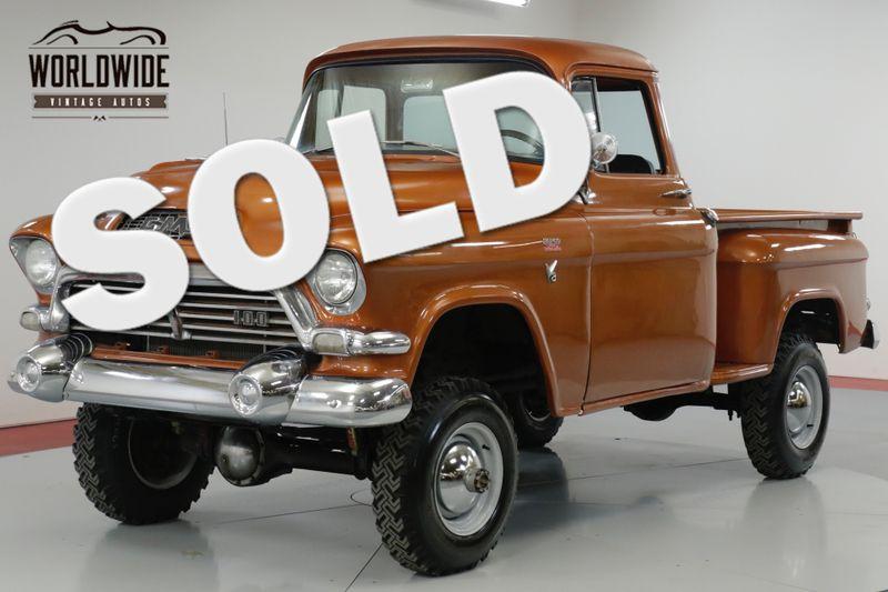 1957 GMC 100 EXTREMELY RARE NAPCO BIG BACK WINDOW! 327V8  | Denver, CO | Worldwide Vintage Autos