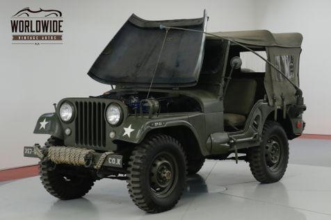 1957 Jeep CJ  RESTORED M38A1 TRIBUTE CJ. 4x4. ACCESSORIES   Denver, CO   Worldwide Vintage Autos in Denver, CO