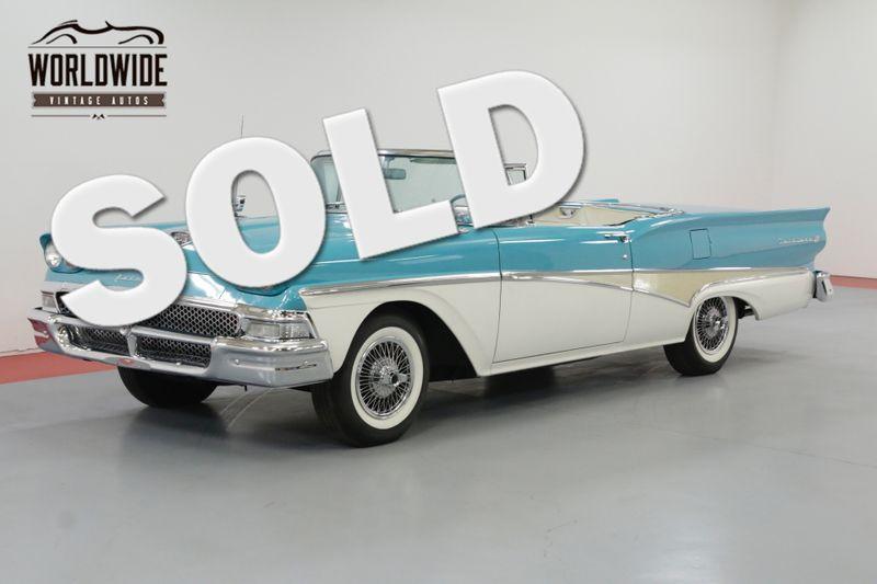 1958 Ford FAIRLANE TWO OWNER RETRACTABLE! INTERCEPTOR ENGINE! | Denver, CO | Worldwide Vintage Autos