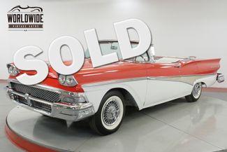1958 Ford FAIRLANE SKYLINER! RESTORED RED/WHITE V8 RARE | Denver, CO | Worldwide Vintage Autos in Denver CO