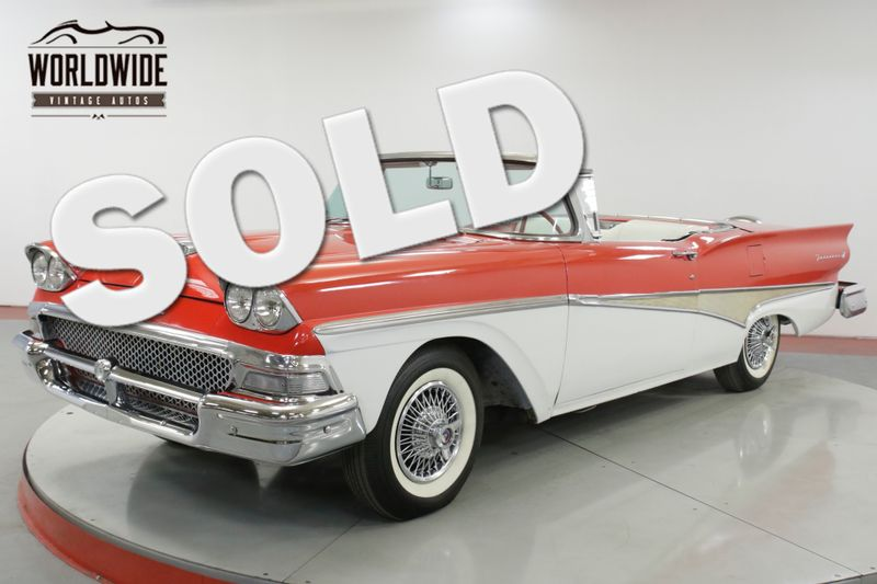 1958 Ford FAIRLANE SKYLINER! RESTORED RED/WHITE V8 RARE | Denver, CO | Worldwide Vintage Autos