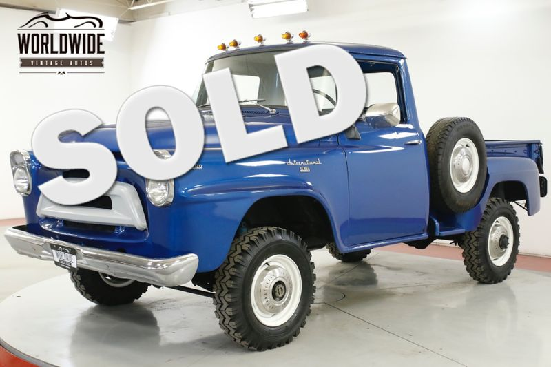 1958 International A120 RARE SHORTBOX 4X4 4-SPEED MUST SEE | Denver, CO | Worldwide Vintage Autos
