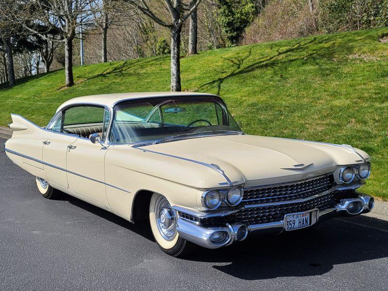 1959 Cadillac Sedan deVille   Factory Air Power Windows New Leather Interior  city Washington  Complete Automotive  in Seattle, Washington