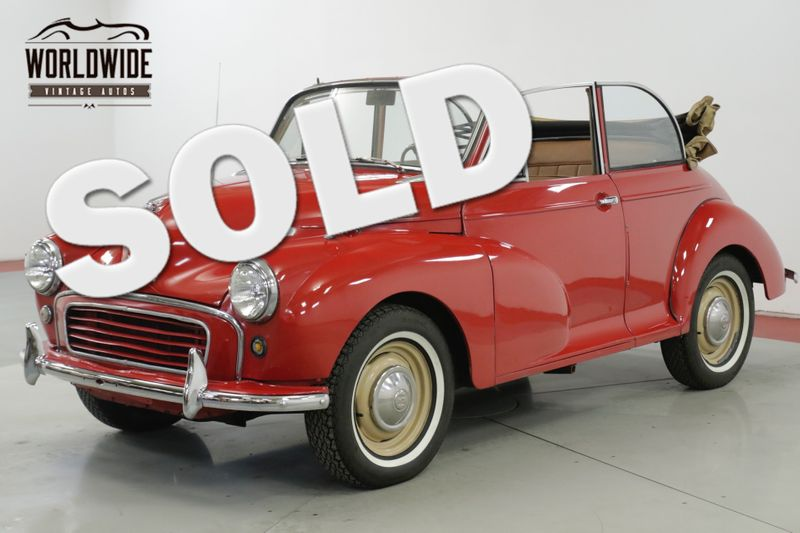 1959 Morris MINOR CONVERTIBLE FROM THE HAROLD LEMAY MUSEUM  | Denver, CO | Worldwide Vintage Autos