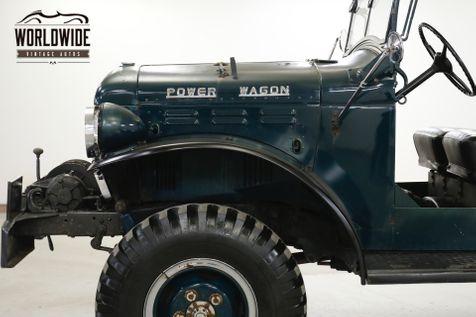1960 Dodge POWER WAGON WDX 4x4 BRADEN WINCH RARE CARRIER | Denver, CO | Worldwide Vintage Autos in Denver, CO