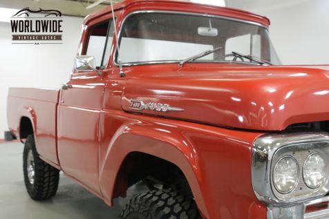 1960 Ford F100 BIG WINDOW 4x4 352 V8 4 SPEED RARE TRUCK    Denver, CO   Worldwide Vintage Autos in Denver, CO