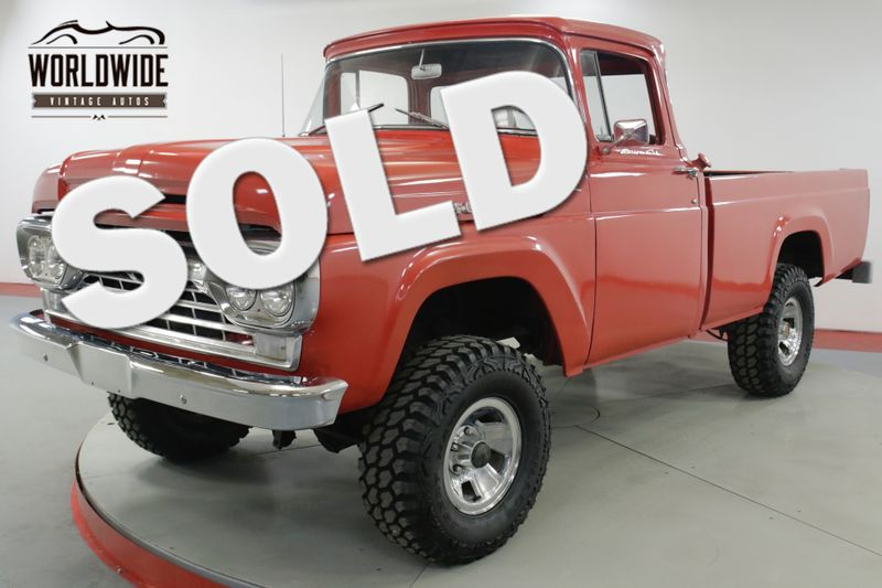 1960 Ford F100 BIG WINDOW 4x4 352 V8 4 SPEED RARE TRUCK    Denver, CO   Worldwide Vintage Autos