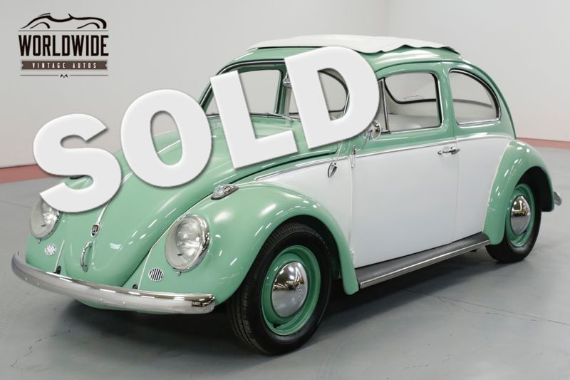 1960 Volkswagen BEETLE FULLY RESTORED. RARE. DISC BRAKES. SHOW OR GO   Denver, CO   Worldwide Vintage Autos