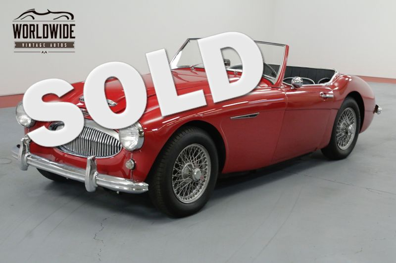 1961 Austin Healey Mark Ii Red And Beautiful Very Rare Denver