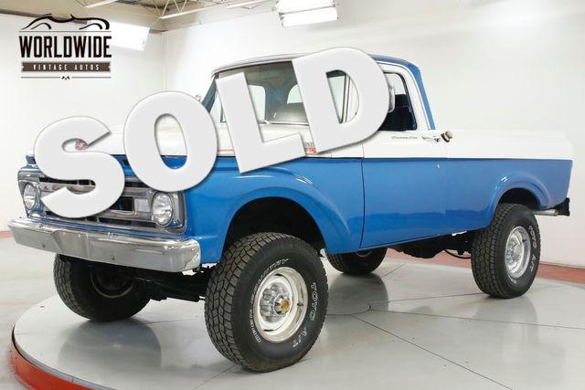 1961 Ford F100 RARE UNIBODY. 4x4 SHORT BED BIG BLOCK V8 | Denver, CO | Worldwide Vintage Autos in Denver CO